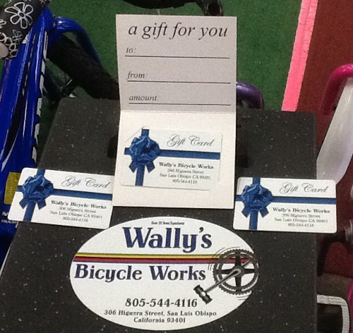 Wally's Bicycle Works gift card